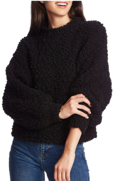 1. State Mockneck poodle texture sweater - Product List Image