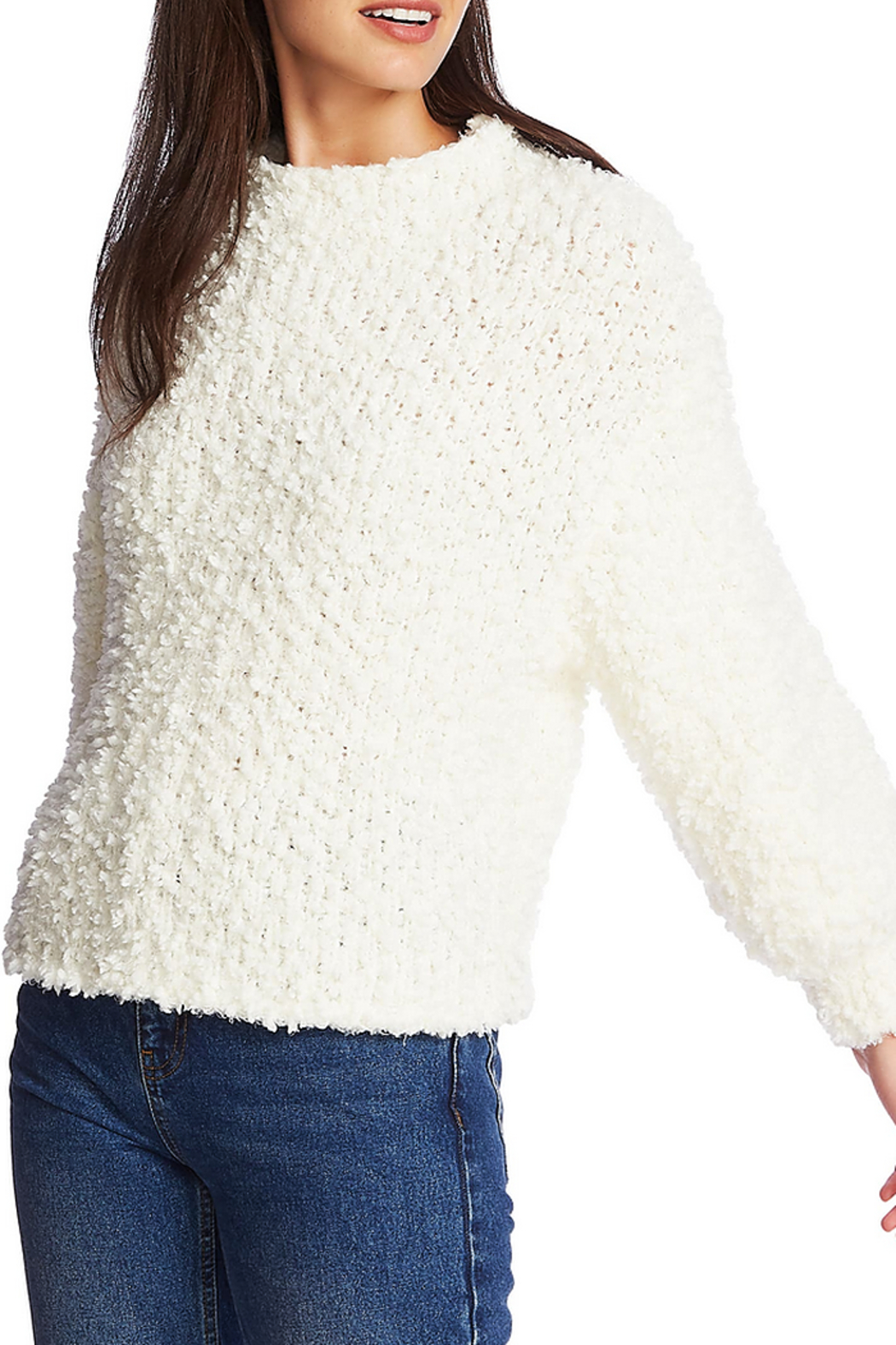 1. State Mockneck poodle texture sweater - Front Cropped Image