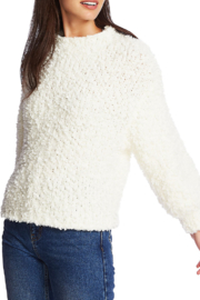 1. State Mockneck poodle texture sweater - Front cropped