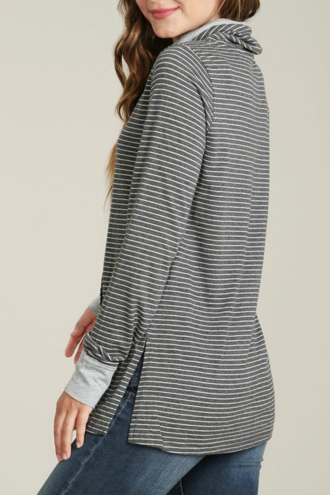 Mod-o-doc Cowl Neck Pullover Top - Side Cropped Image