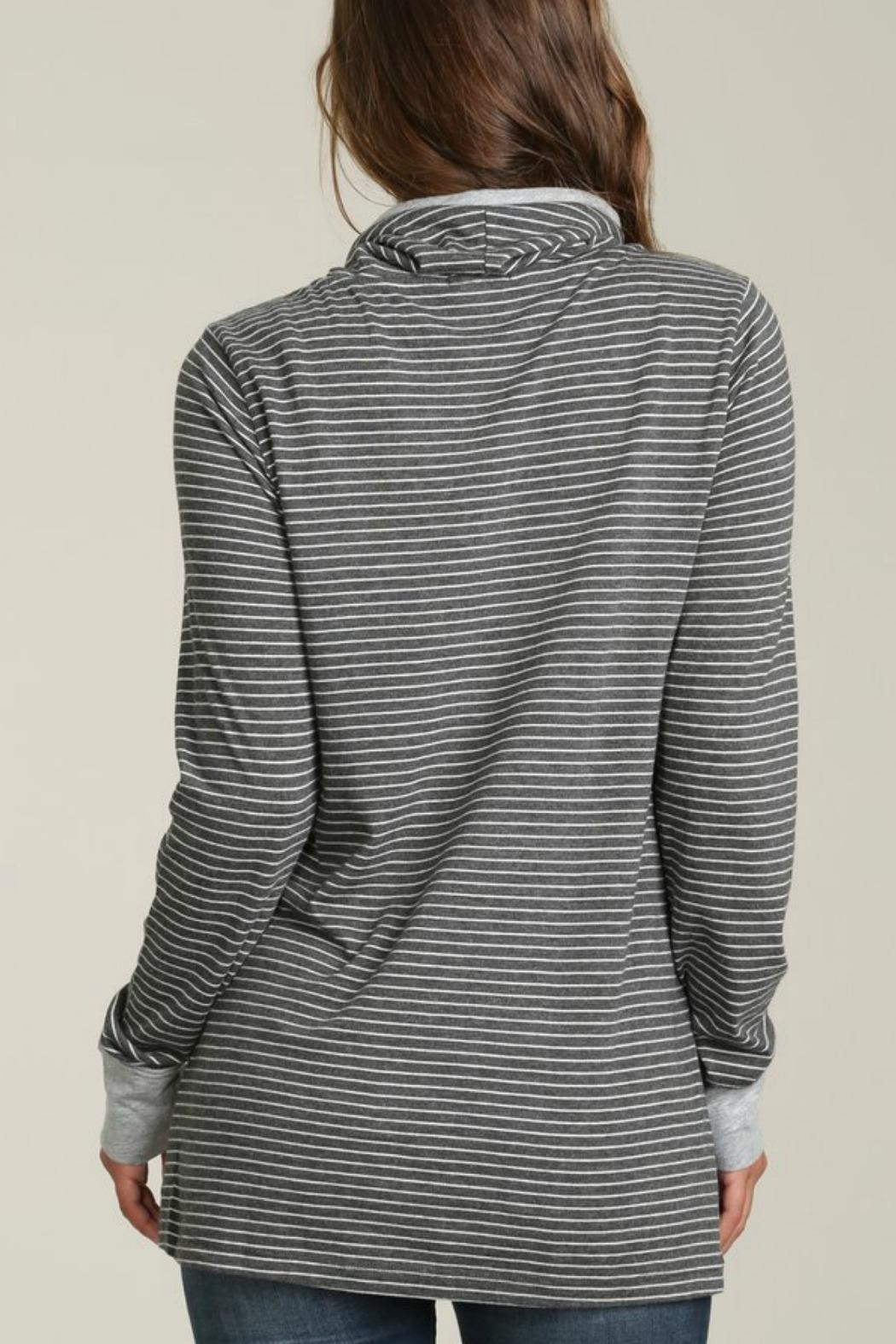 Mod-o-doc Cowl Neck Pullover Top - Front Full Image