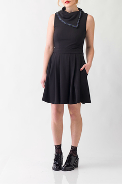 Smak Parlour Mod Respect-flare dress with fold over collar - Product List Image
