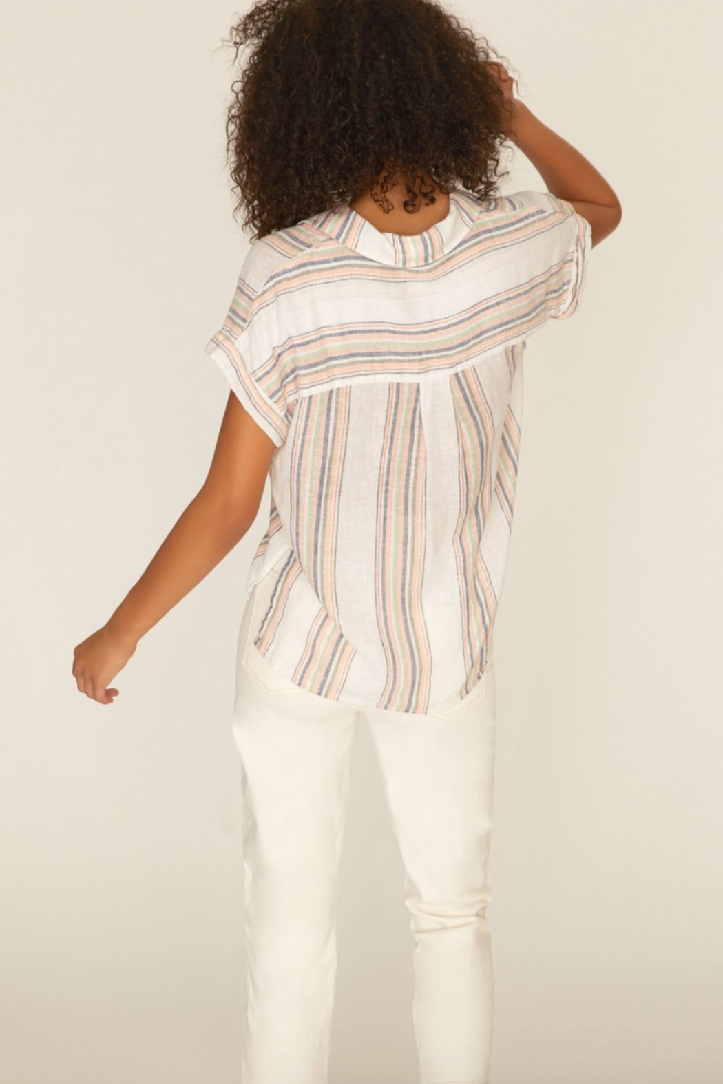 Sanctuary Mod Short Sleeve Boyfriend Shirt - Front Full Image