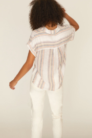 Sanctuary Mod Short Sleeve Boyfriend Shirt - Front full body
