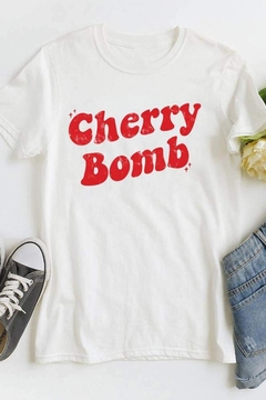 MOD&SOUL Cherry-Bomb Graphic Tee - Alternate List Image