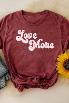 MOD&SOUL Love-More Graphic Tee - Alternate List Image