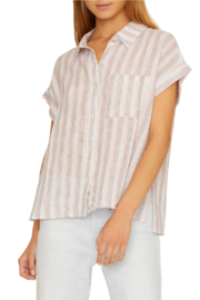 Sanctuary Mod Stripe Boyfriend Shirt - Product Mini Image