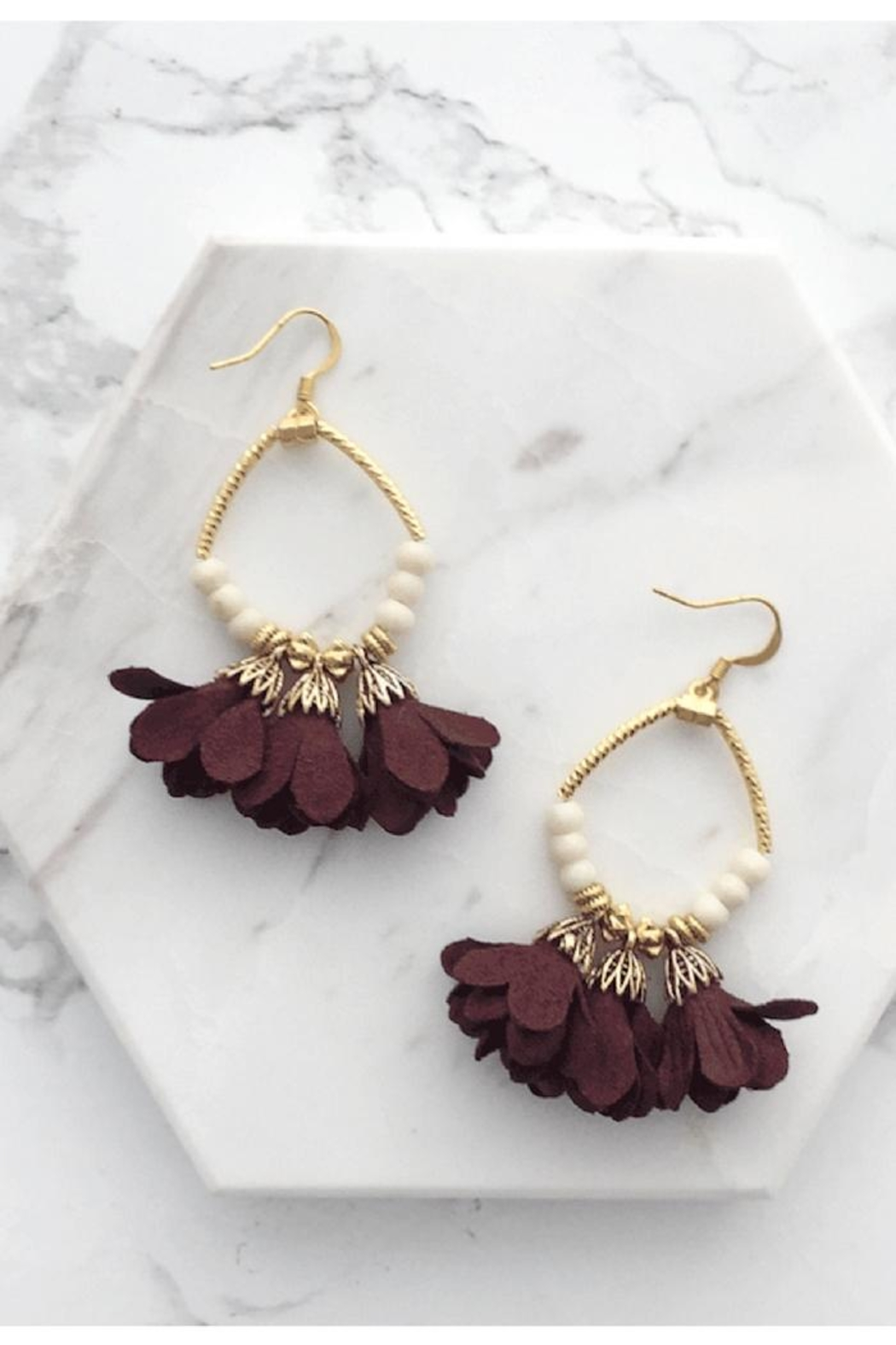 Mod & Jo Floral Fringe Earrings - Main Image