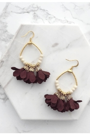 Mod & Jo Floral Fringe Earrings - Product Mini Image