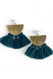 Mod & Jo Hammered Fringe Earring - Product Mini Image