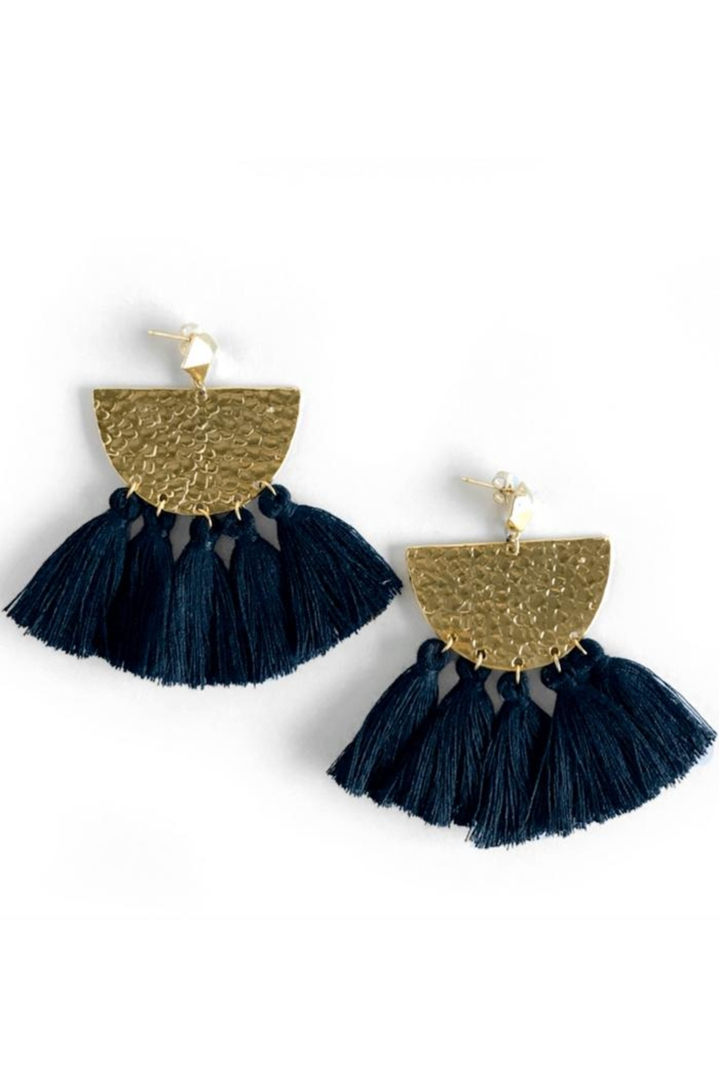 Mod & Jo Hammered Fringe Earrings - Main Image