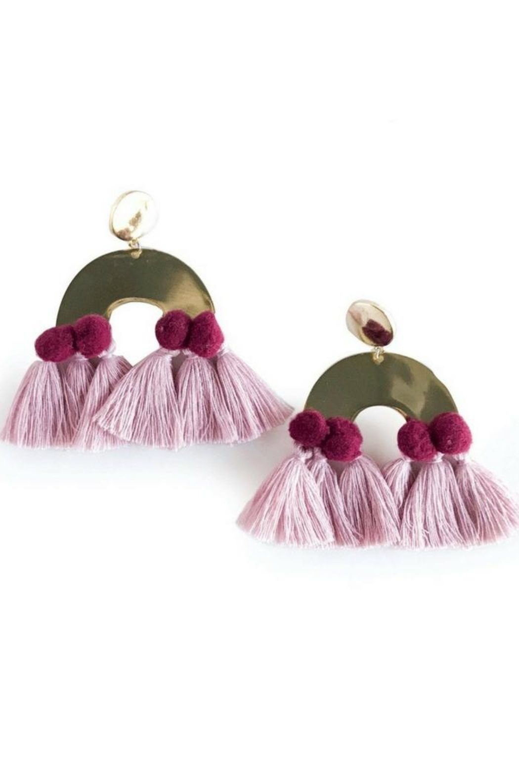 Mod & Jo Havana Pom Earrings - Main Image