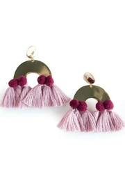 Mod & Jo Havana Pom Earrings - Front cropped