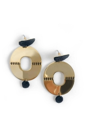 Mod & Jo Leather Statement Earrings - Product Mini Image