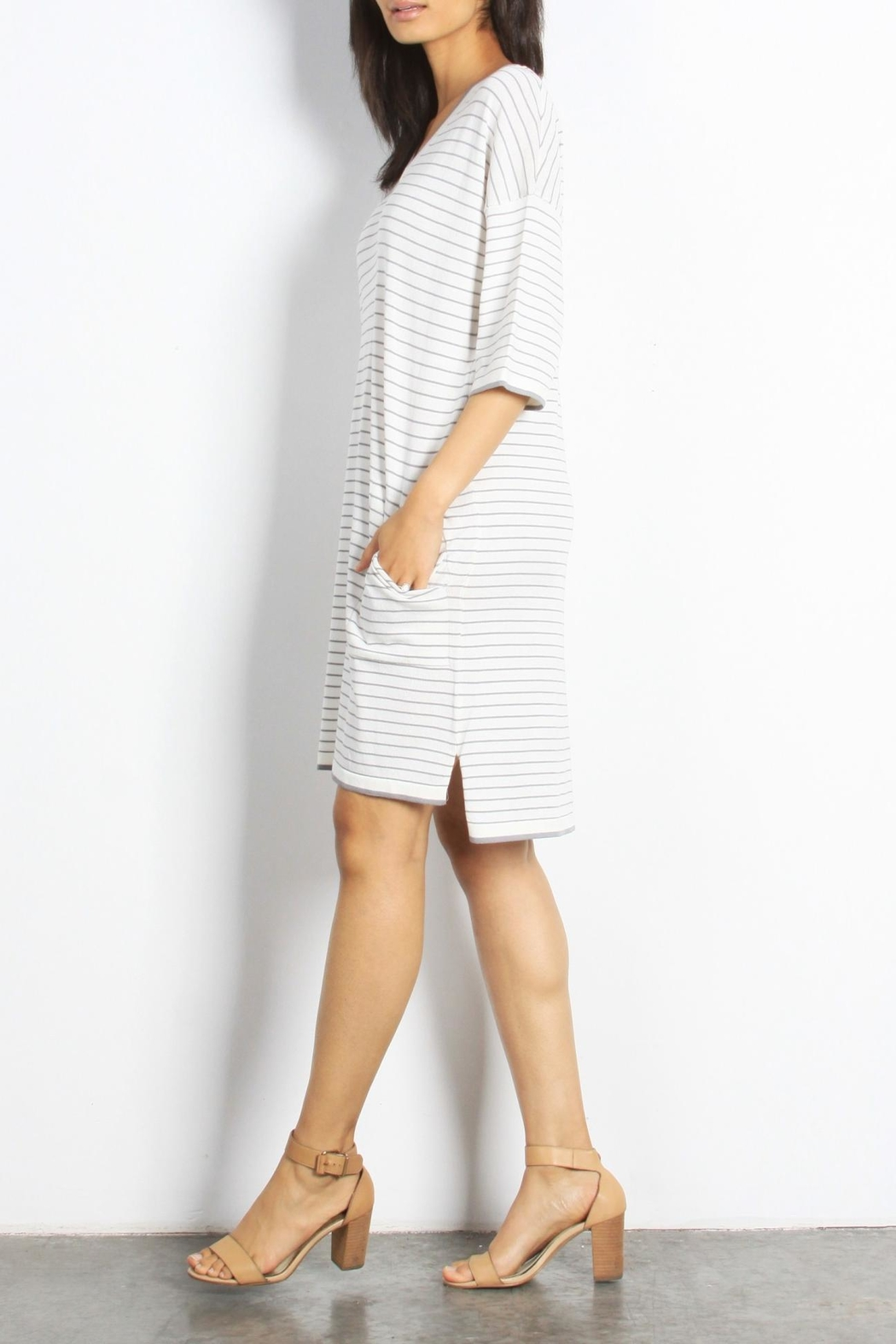 Mod Ref Channing Striped Dress - Front Full Image