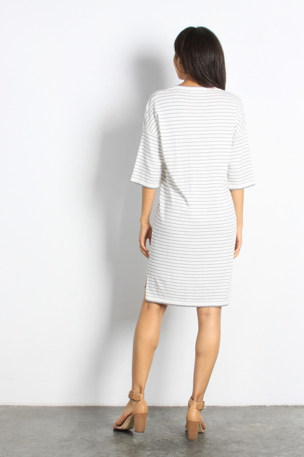 Mod Ref Channing Striped Dress - Side Cropped Image