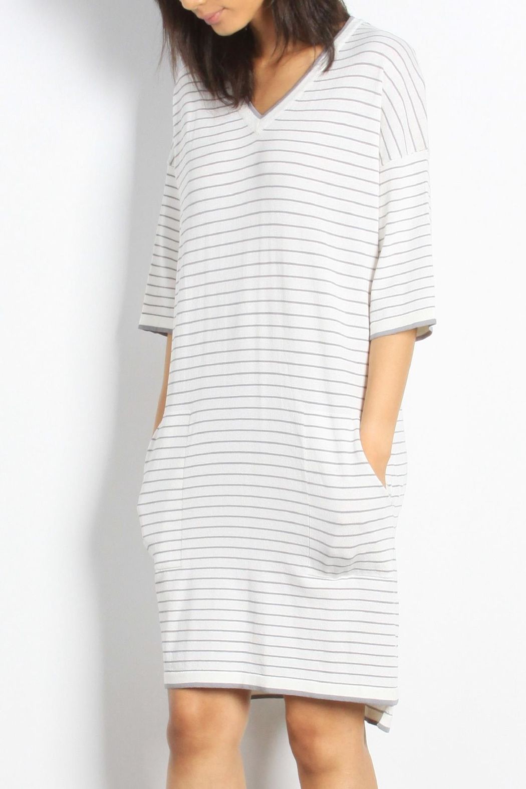 Mod Ref Channing Striped Dress - Back Cropped Image