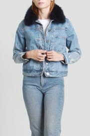Mod Ref Faux-Fur Denim Jacket - Product Mini Image