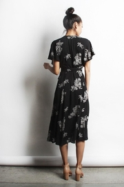 Mod Ref Floral  Wrap Dress - Front full body
