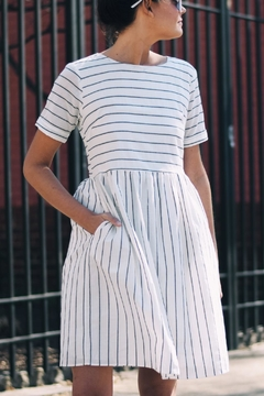 Shoptiques Product: Striped Cotton Dress