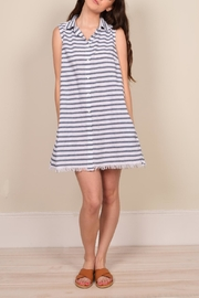 Mod Ref Stripe Print Shift Dress - Product Mini Image