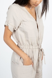 Mod Ref Taupe Jumpsuit - Front full body
