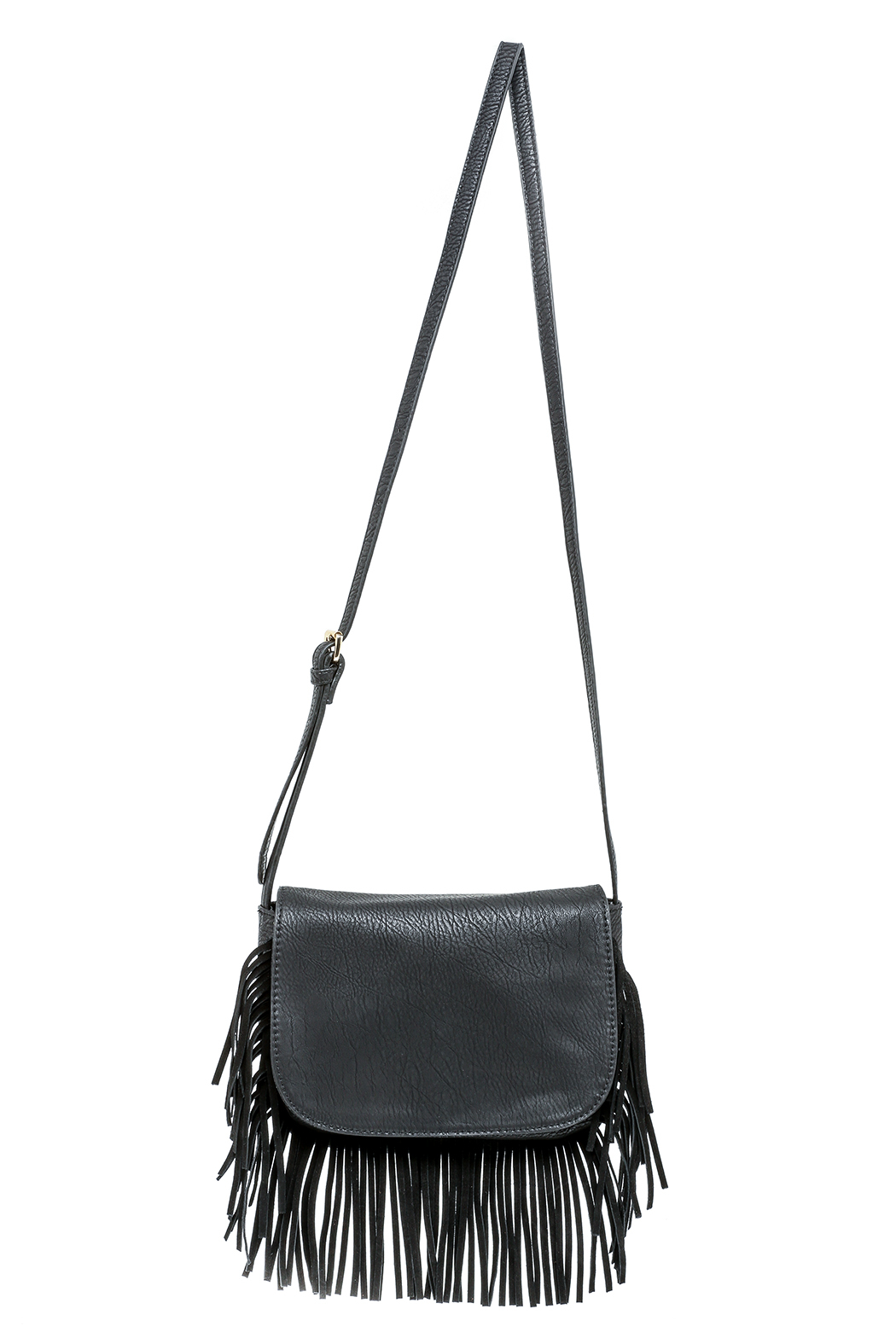 Moda Luxe Fringed Black Bag Front Cropped Image