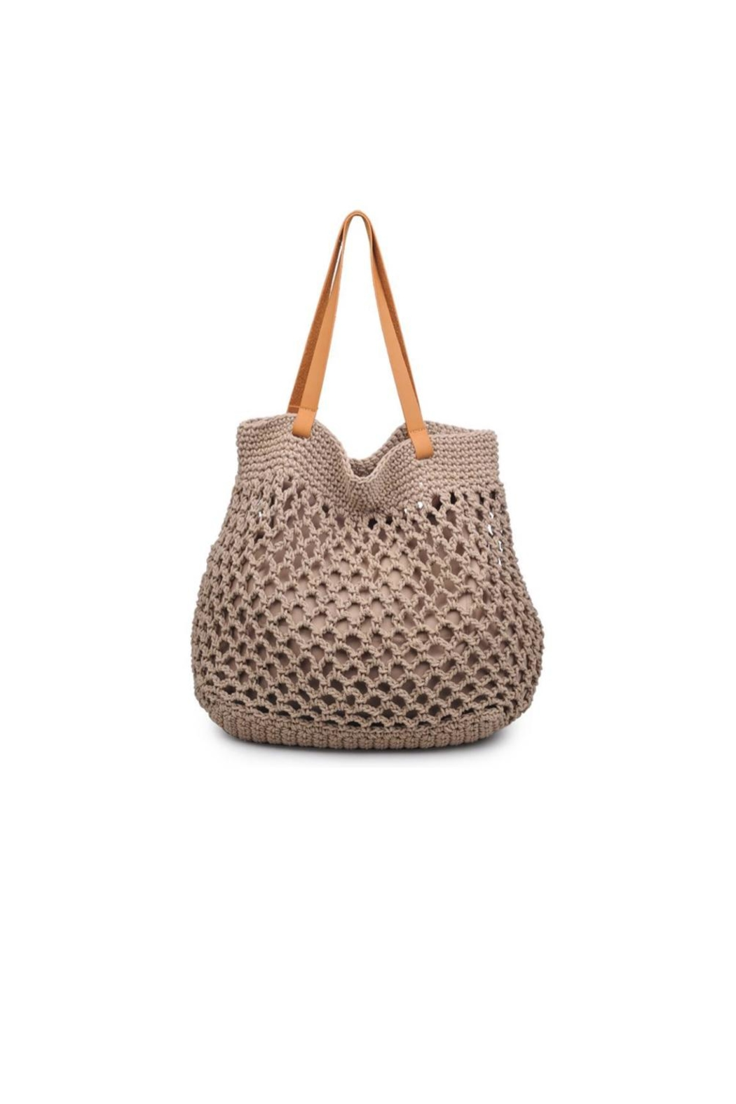 Moda Luxe Crochet Tote - Front Cropped Image