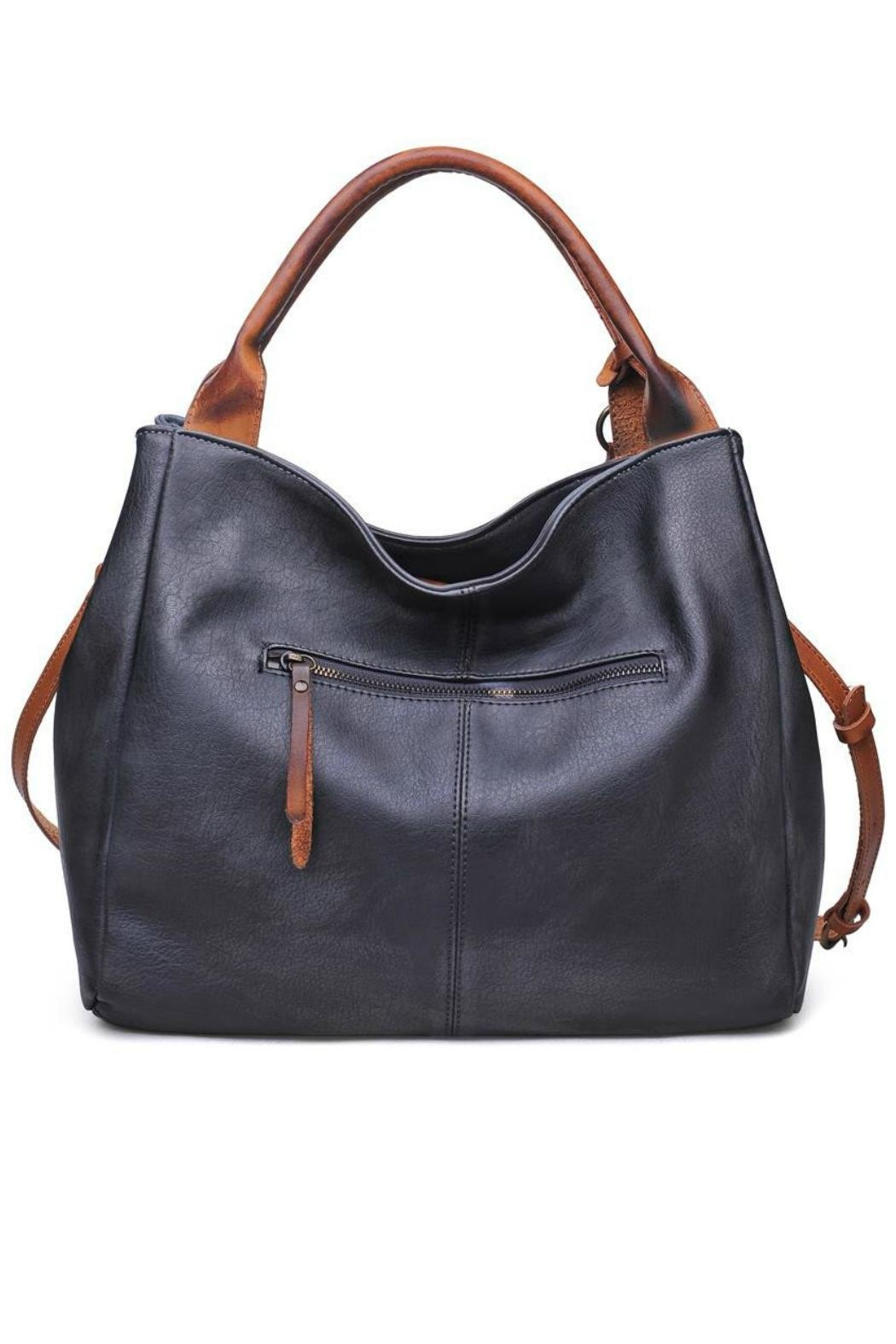 Moda Luxe Faux Leather Satchel - Side Cropped Image