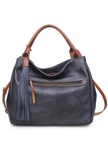 Moda Luxe Faux Leather Satchel - Main Image