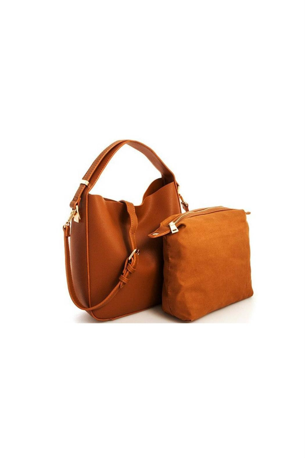 Moda Luxe Faux-Leather Satchel Set - Front Full Image