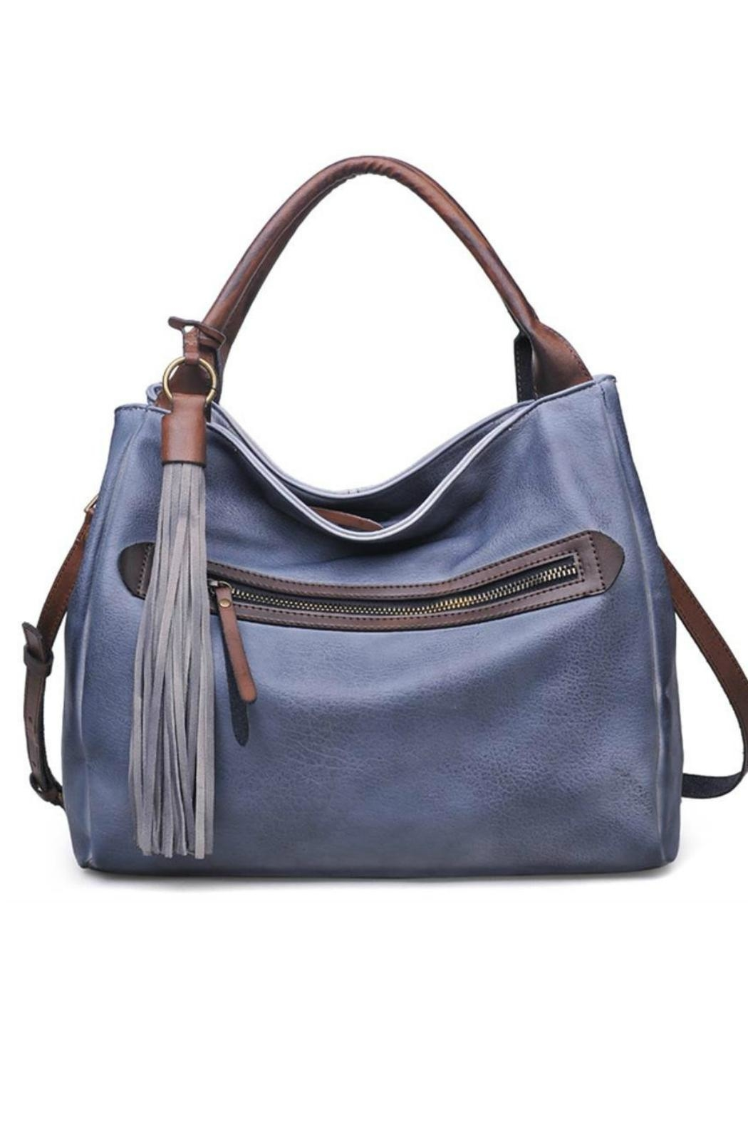 Moda Luxe Faux Leather Satchel - Front Cropped Image