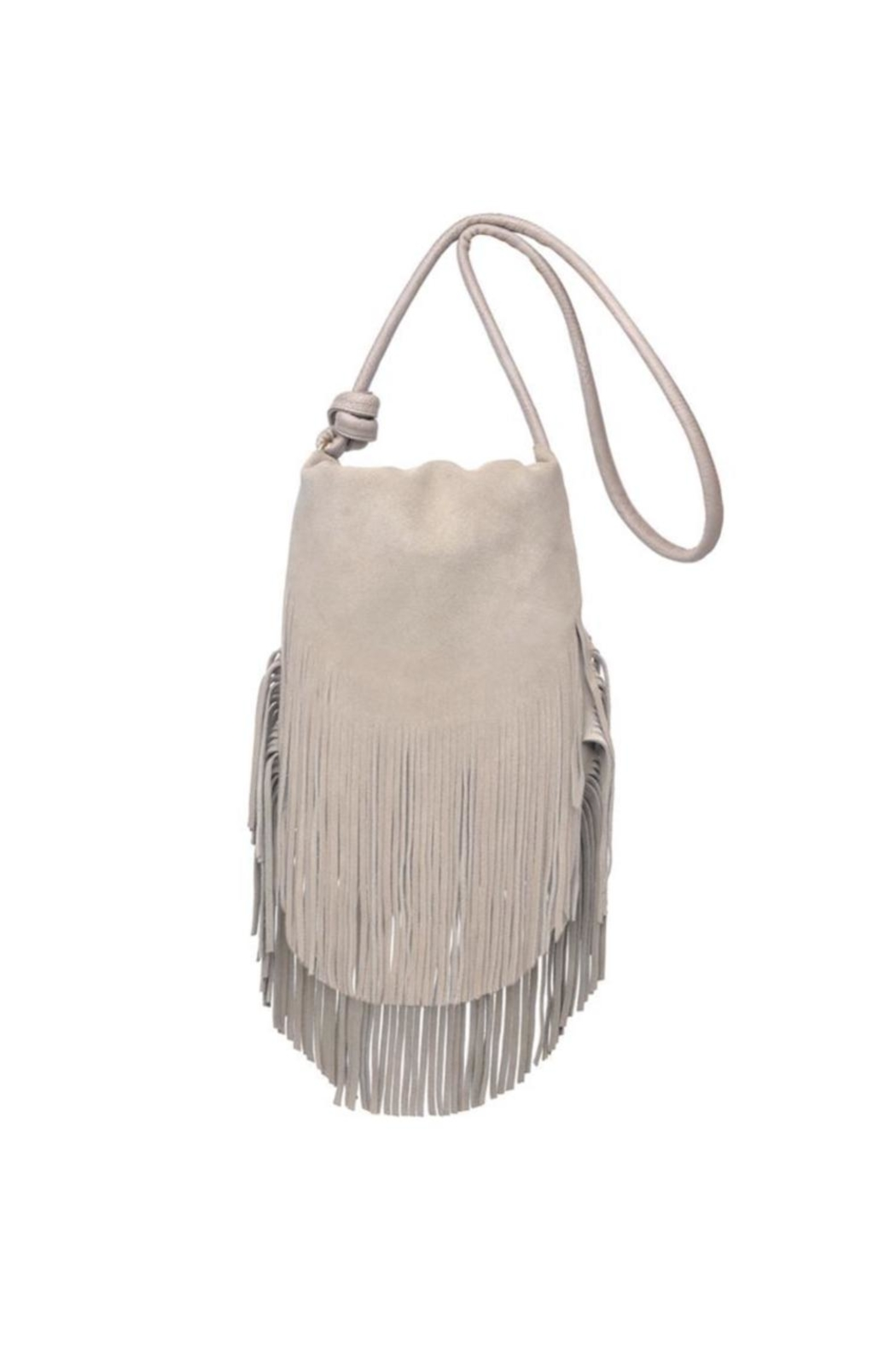 Moda Luxe Fringe Suede Crossbody Bag - Front Cropped Image