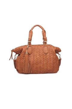 Moda Luxe Tan Suede Satchel - Product List Image
