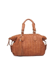 Moda Luxe Tan Suede Satchel - Product Mini Image