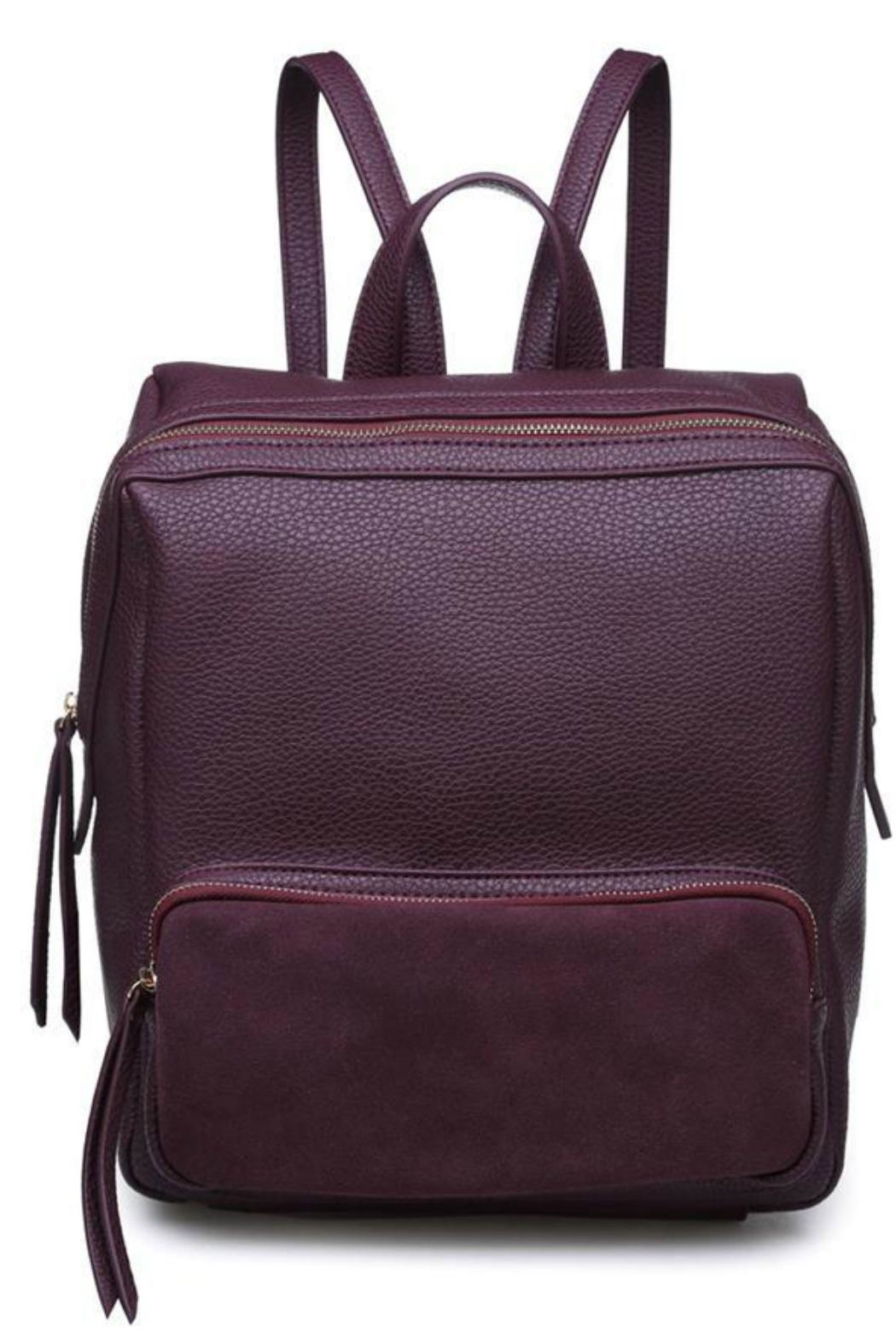 Moda Luxe Zipper Front Backpack - Main Image