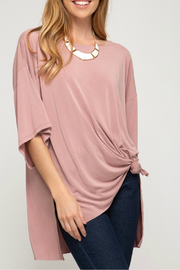 She + Sky Modal cupro hi low oversized top - Product Mini Image