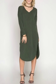 She & Sky  Modal Midi Dress - Product Mini Image