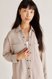 z supply Modal Shirt Jacket - Front cropped