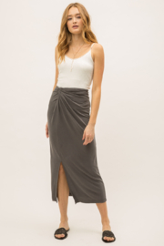 Mystree Modal Twist Front Skirt - Front cropped