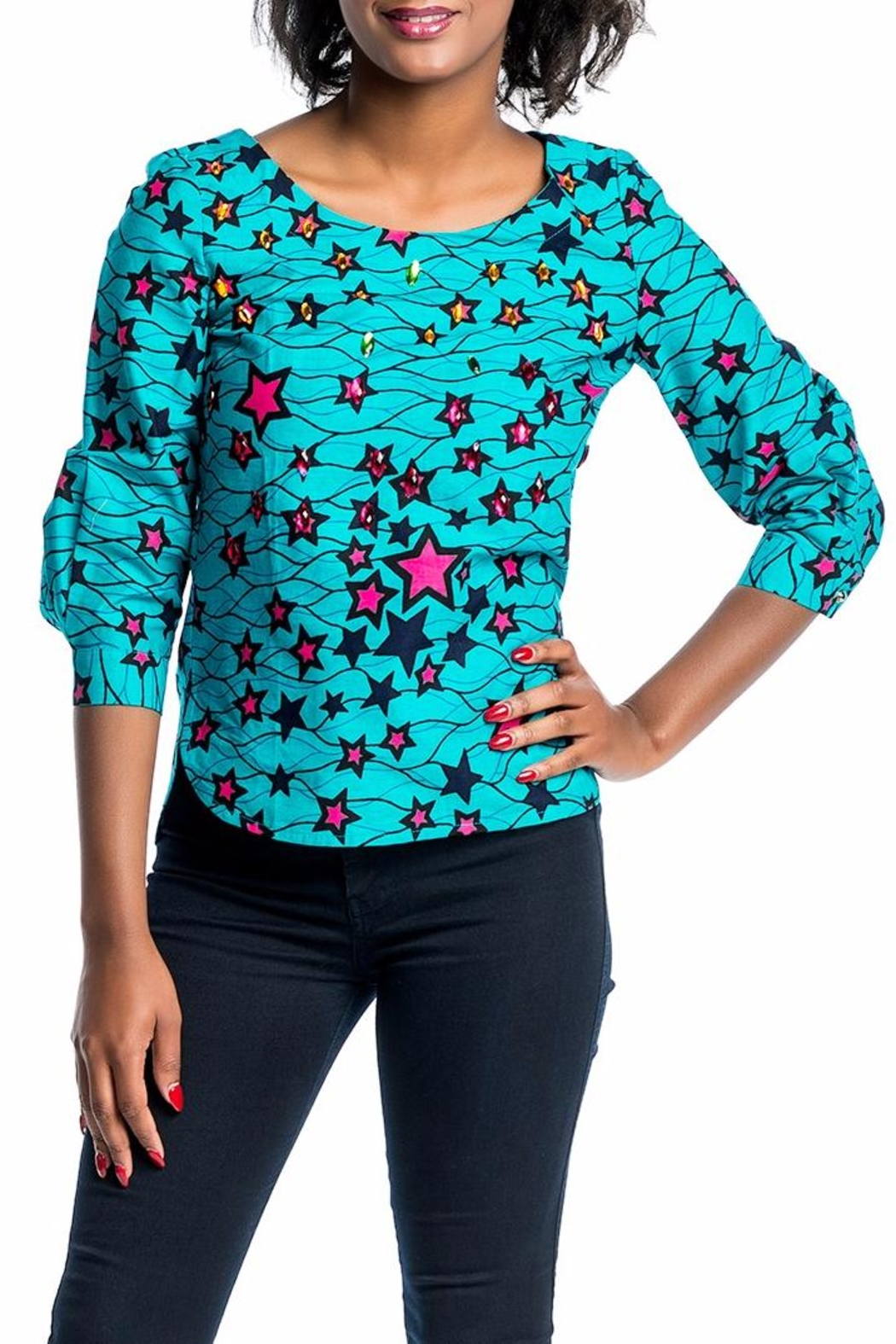 MODChic Couture Aggie Ankara Top - Main Image