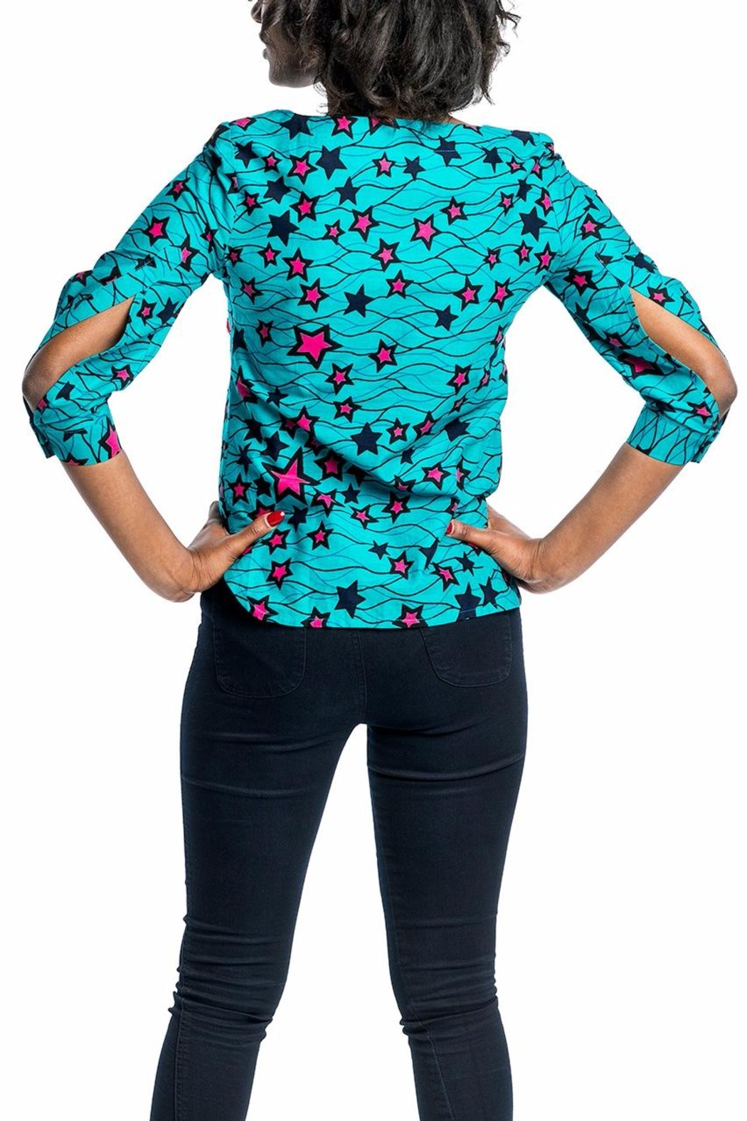 MODChic Couture Aggie Ankara Top - Front Full Image