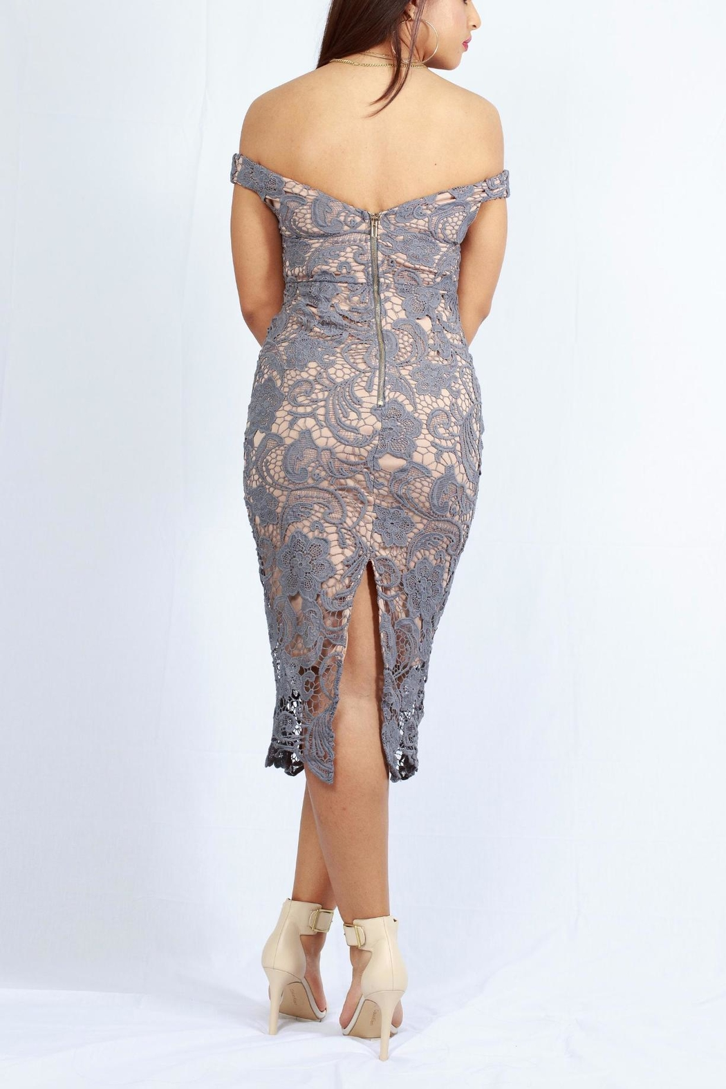 MODChic Couture Bare Lace Dress - Front Full Image