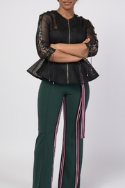 MODChic Couture Black Mesh Shell - Front cropped
