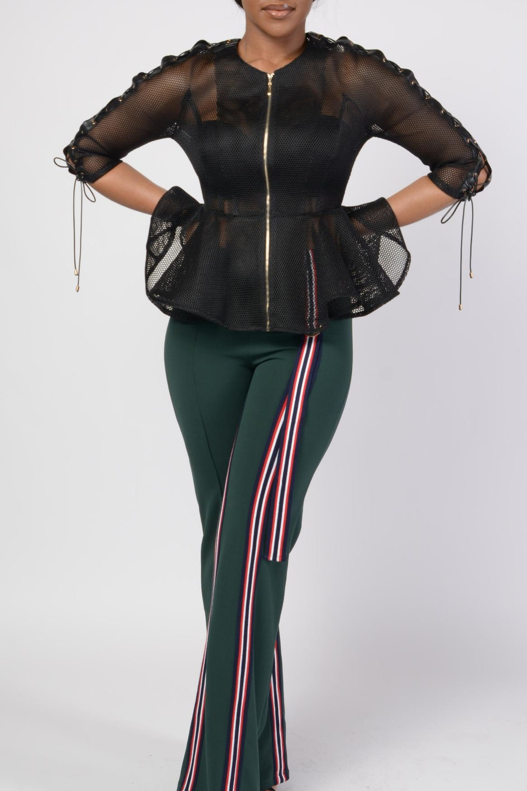 MODChic Couture Black Mesh Shell - Side Cropped Image