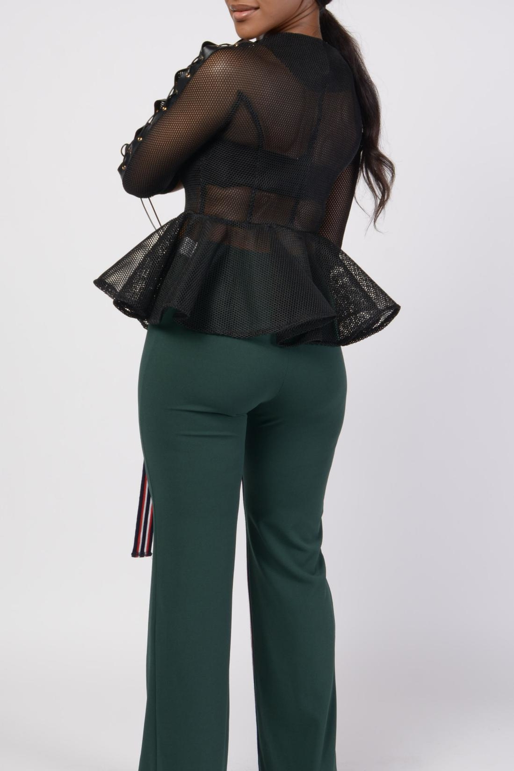 MODChic Couture Black Mesh Shell - Back Cropped Image