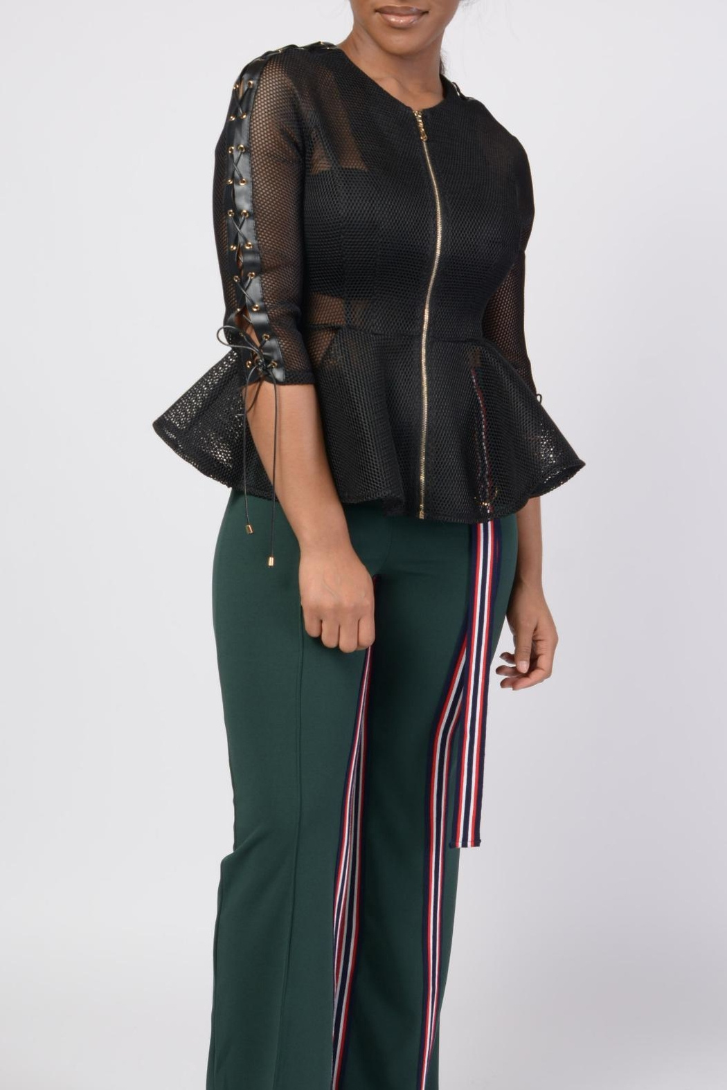 MODChic Couture Black Mesh Shell - Front Full Image
