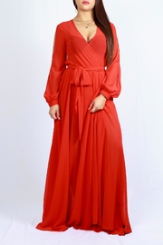 MODChic Couture Bold Red Maxi - Front full body