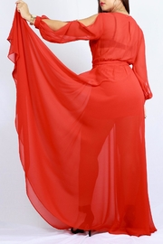 MODChic Couture Bold Red Maxi - Side cropped