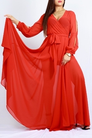 MODChic Couture Bold Red Maxi - Front cropped